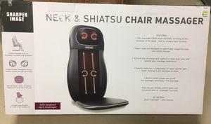 NEW in box Sharper Image Chair Massager for Sale in Orlando, FL