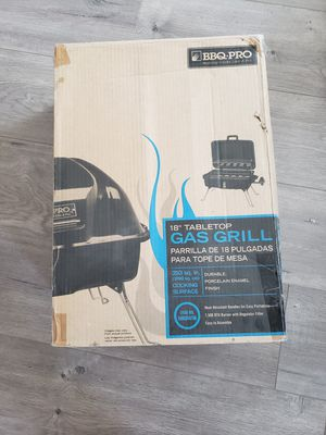 """BBQ pro 18"""" tabletop gas grill for Sale in Charleroi, PA"""