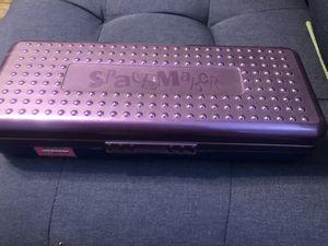 "Vintage Spacemaker Long Pencil Case 12"" Ruler Storage Box Art Craft Blue Purple for Sale in San Bernardino, CA"