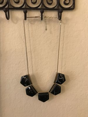 3 different black and gold chunky accent necklaces for Sale in San Diego, CA