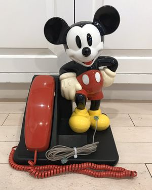 Vintage AT&T Mickey Mouse Corded Telephone Phone Landline Touch Tone Disney for Sale in Blackstone, MA