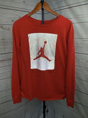 Air Jordan Sportswear size XL Red Reflective LS T Shirt worn 1 time LIKE NEW for Sale in Sacramento, CA