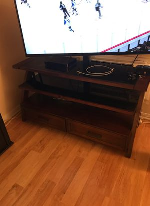 Tv stand and mounting hardware, fits a 60 inch easily for Sale in Escondido, CA