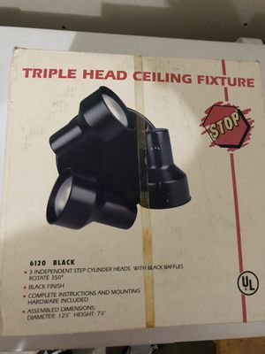 Triple Head Ceiling Light Fixture - New for Sale in Willoughby, OH
