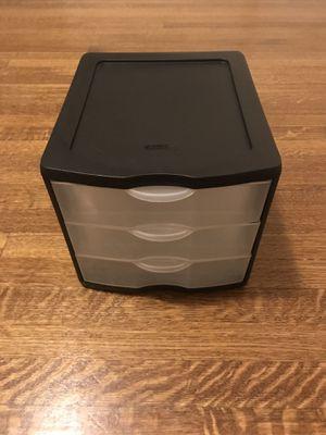 three drawer plastic organizer for Sale in Seattle, WA