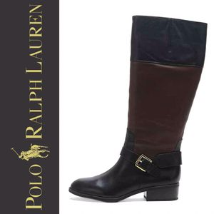 Polo Ralph Lauren Black Brown Melanie Riding Boots for Sale in Denver, CO