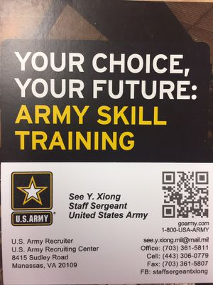 US Army Job Offers for Sale in Manassas, VA