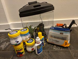 Beta Fish Tank + Accessories for Sale in Bellevue, PA