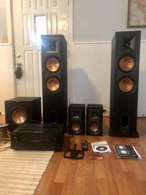Klipsch speaker and surround sound system with pioneer receiver and wire for Sale in Redmond, WA
