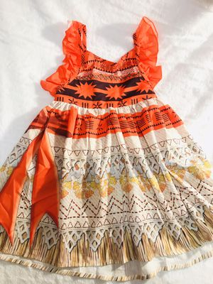 Size 5yrs and 6/7yrs orange Moana dress $25 ea for Sale in National City, CA