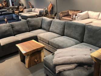 Last One! Vintage Light Grey Nailhead Sectional & Chaise Only $1599! for Sale in Vancouver,  WA