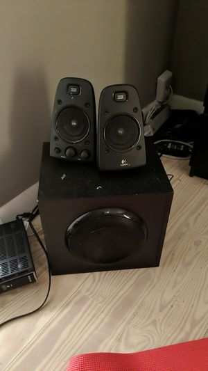 Logitech z 623 speakers and base. for Sale in Miami, FL