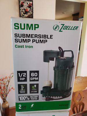 BRAND NEW - Zoeller 1/2 HP cast iron sump pump for Sale in Puyallup, WA
