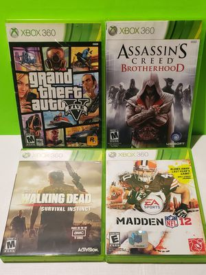 Xbox 360 Game Lot - GTA V + Assassins Creed (You get all 4) for Sale in Reinholds, PA