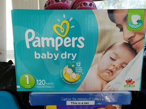 Pampers size 1 for Sale in Brook Park, OH