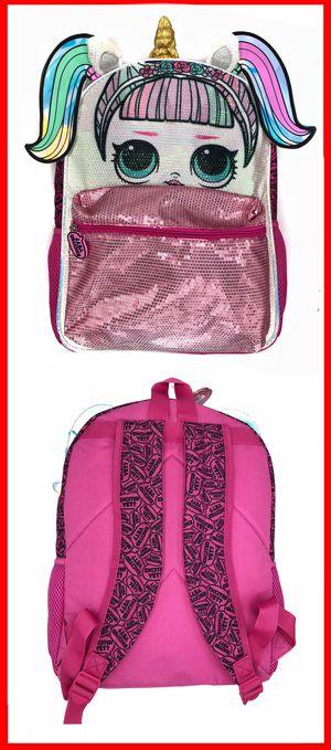 NEW! LOL Surprise Dolls sequin Unicorn Backpack school bag girls travel bag kids bag book bag for Sale in Carson, CA