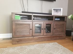 Console media table, storage, for Sale in Seattle, WA