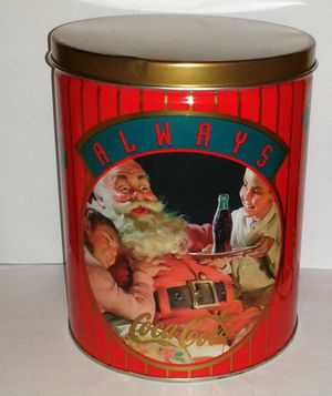 """Vintage COCA-COLA Christmas Tin (10"""") for Sale in Silver Spring, MD"""