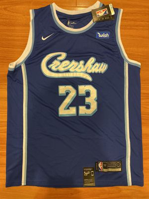 LeBron James Crenshaw Los Angeles Lakers Basketball Stitched NBA Jersey 23 Nipsey Hussle for Sale in West Covina, CA