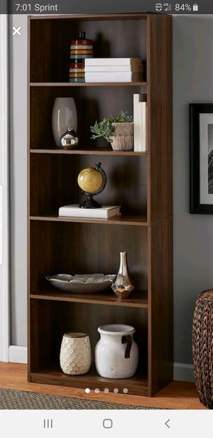 bookshelves with 5 shelves must go today $40 for Sale in Conyers, GA