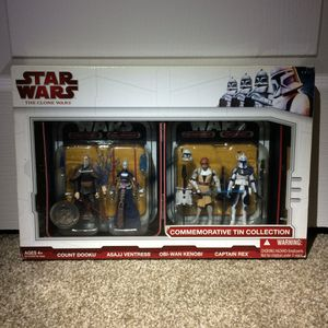 Star Wars Action Figures Vintage Clone Wars Commemorative Tin Multipack for Sale in Walnut Creek, CA