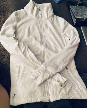 Lululemon Size Small Off white zip up Fleece for Sale in Seattle, WA