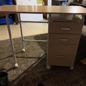 Folding Computer Laptop Desk Wheeled Home Office Furniture for Sale in Cutler, CA