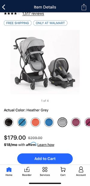 Urbini Omni Plus 3 in 1 Travel System, Special Edition, Heather Grey for Sale in Shadeland, IN