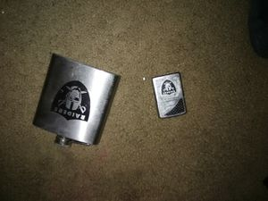 Raiders flask and zippo for Sale in Hayward, CA