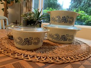 "Vintage Pyrex ""Homestead"" Casserole Dishes for Sale in Issaquah, WA"