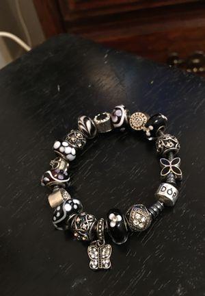 Rare black oxidized authentic Pandora bracelet for Sale in Carrollton, TX