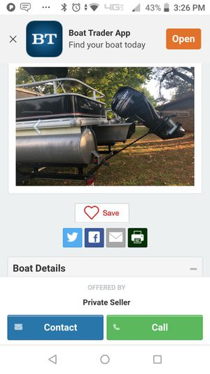 Brand-new 18 ft dlx bassbuggy pontoon boat 75hp outboard for Sale in Fremont, CA