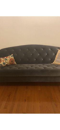 Gray Velvet Sleeper Sofa, Urban Outfitters for Sale in Baltimore,  MD