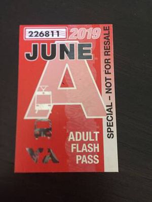 Adult June Month Pass for Sale in San Jose, CA