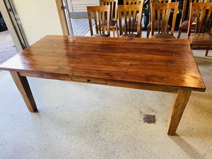 Reclaimed teak table with 8 chairs for Sale in Bend, OR
