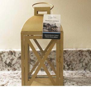 """Brand new Medium Metal Lantern: Dimensions: 5.35""""W x 5.35""""D x 11.26""""H (pick up only) for Sale in Alexandria, VA"""