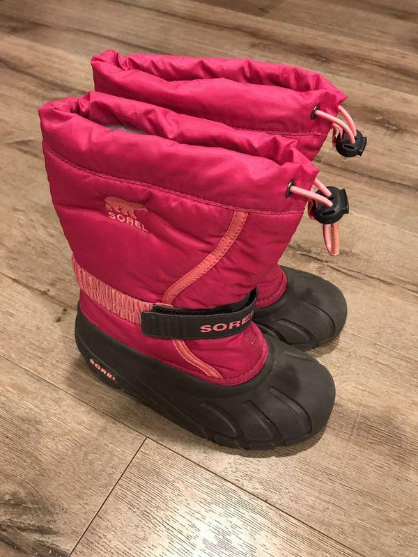 Sorel big kids snow boots size 1