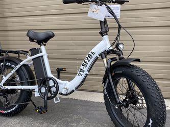 VTUVIA SF20 - 750 Watts Fat Tire Folding Aluminum Electric Bike in 5 Colors (Easy Step Through) - Brand New for Sale in Diamond Bar,  CA