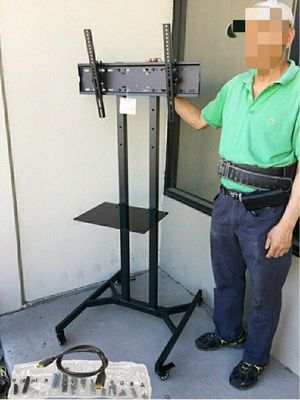 """New in box 28"""" depth x 26"""" wide x 65"""" tall 32 to 65 inch tv television heavy duty stand with locking wheels and shelf soporte de tv for Sale in Covina, CA"""