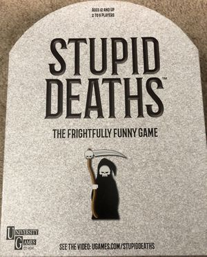 Stupid Deaths Board Game for Sale in San Antonio, TX