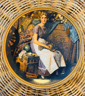 DREAMING IN THE ATTIC Porcelain Plate Norman Rockwell for Sale in Aurora, IL