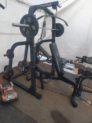 OLYMPIC SQUAT RACK WITH OLYMPIC WEIGHTS for Sale in Riverside, CA