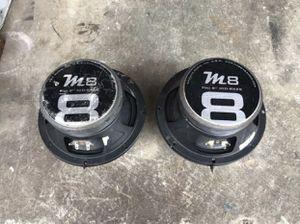 "8"" M8 Mid bass 1 pair 280 watt 8 ohm pro audio for Sale in Miami, FL"