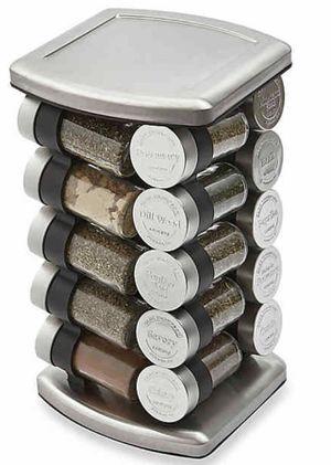 Olde Thompson 20 Jar Embossed Revolving Spice Rack for Sale in Aurora, IL