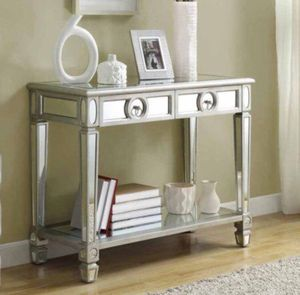 "Monarch Console Table 38""L / Brushed Silver / Mirror New for Sale in Columbus, OH"