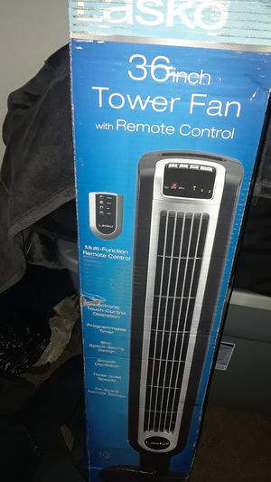 Lasko 36 inch tower fan with remote control for Sale in Tempe, AZ