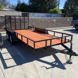 Brand new 8 1/2 x 16 x 1 utility trailer with a ramp gate for Sale in Corona, CA