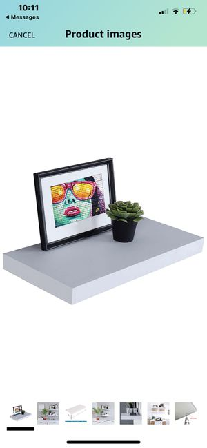 """New‼️ WELLAND 12"""" Deep White Floating Shelves, Wall Shelf Display Floating Shelf, 23.62"""" L x 11.81"""" D x 2"""" T, Deeper Than Others, White for Sale in Fountain Valley, CA"""