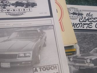 National Monte Carlo Owners Association Newsletters (10) for Sale in Downers Grove,  IL