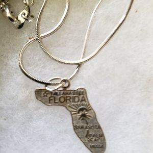 Sterling Silver Florida Necklace for Sale in Auburndale, FL